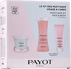 Perfumería y cosmética Set (crema facial/50ml+ aceite de ducha/125ml+ loción corporal/25ml) - Payot Hydra 24+ Must-Have Kit Face & Body