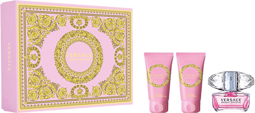 Versace Bright Crystal - Set (eau de toilette/50ml + loción corporal/50ml + gel de ducha/50ml)