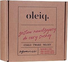 Perfumería y cosmética Set orgánico para cuerpo, rostro y cabello con aceite de cereza y ciruela - Oleiq (hidrolato/100ml + aceite/100ml + aceite/30ml)