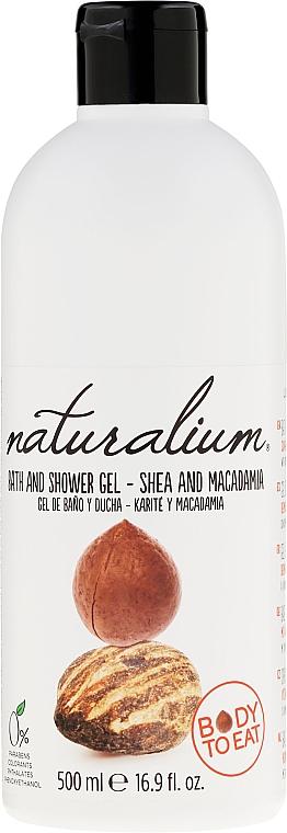 Gel de ducha y baño con mantéca de karité y macadamia, sin parabenos - Naturalium Shea & Macadamia Shower Gel — imagen N1
