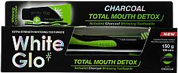 Perfumería y cosmética Set - White Glo Charcoal Total Mouth Detox (pasta dental/150g + cepillo dental)