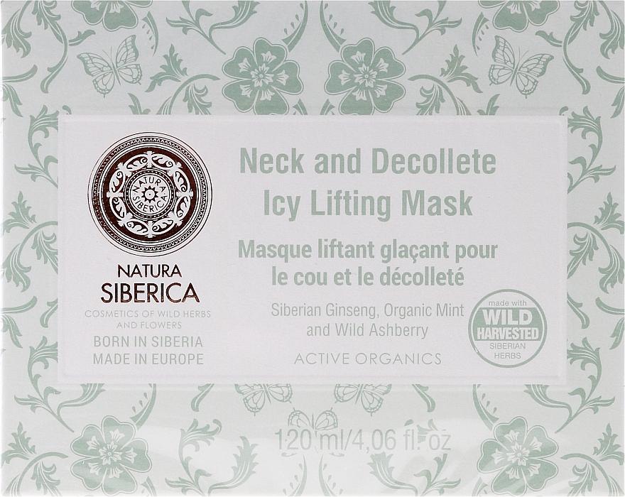 Mascarilla para cuello y escote con extracto de ginseng, menta orgánica y azarollo - Natura Siberica — imagen N1