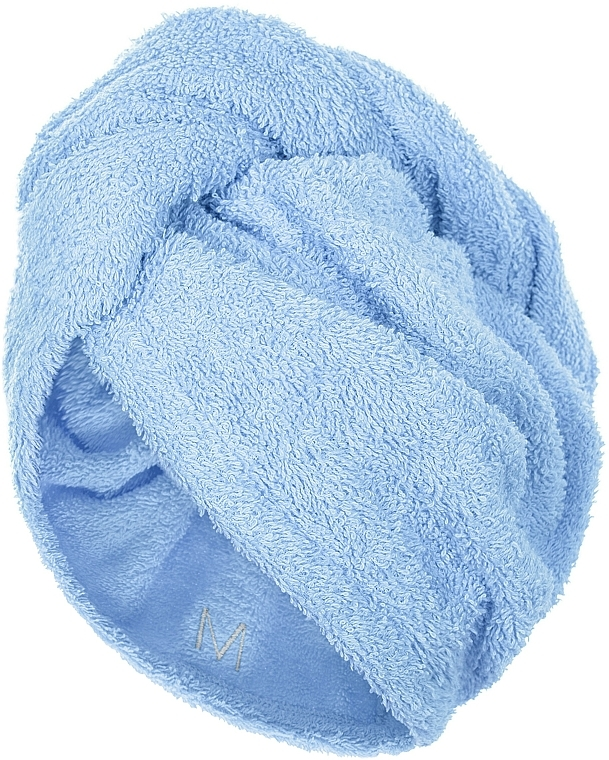 Toalla turbante, azul - MakeUp