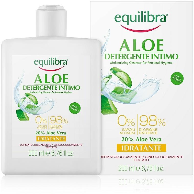 Gel de higiene íntima con jugo de aloe vera y extracto de camomila - Equilibra Aloe Moisturizing Cleanser For Personal Hygiene