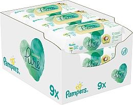 Perfumería y cosmética Toallitas húmedas para bebés con aceite de coco, sin alcohol - Pampers Pure Coconut