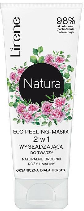 Mascarilla facial exfoliante con extractos de rosa y frambuesa - Lirene Natura Eco Peeling-Mask
