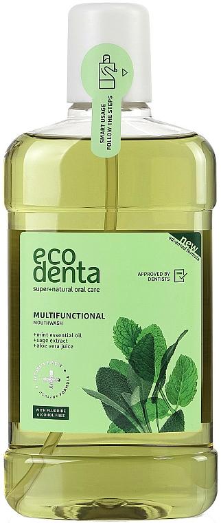 Enjuague bucal antibacteriano con aceite de menta y extracto de salvia - Ecodenta Multifunctional Mouthwash