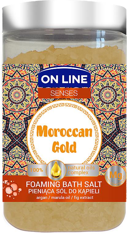 Sales de baño con extracto de higo y aceites de marula & argán - On Line Senses Bath Salt Moroccan Gold