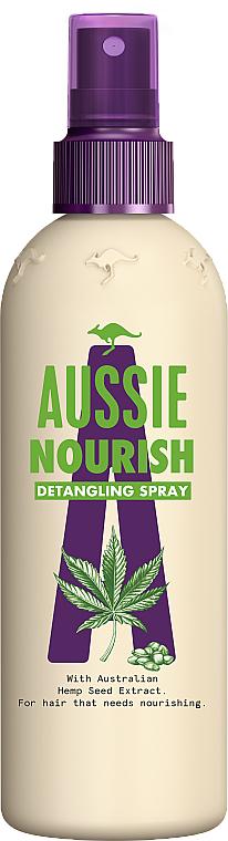 Spray desenredante de cabello con aceite de semilla de cáñamo - Aussie Nourish Detangling Spray