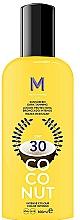 Perfumería y cosmética Loción protectora bronceado intenso - Mediterraneo Sun Coconut Sunscreen Dark Tanning SPF30