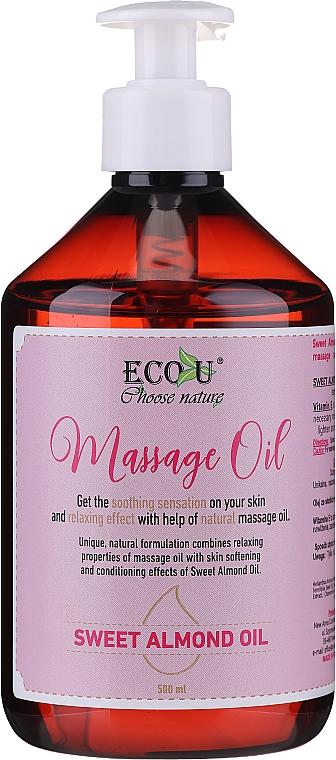 Aceite de masaje con almendras dulces - Eco U Massage Oil Sweet Almond Oil