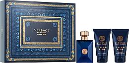 Perfumería y cosmética Versace Pour Homme Dylan Blue - Set (eau de toilette/50ml + bálsamo after shave/50ml + gel de ducha/50ml)
