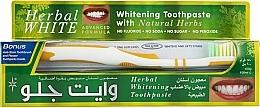Perfumería y cosmética Set dental - White Glo Herbal White (pasta/100ml + cepillo amarillo/1)