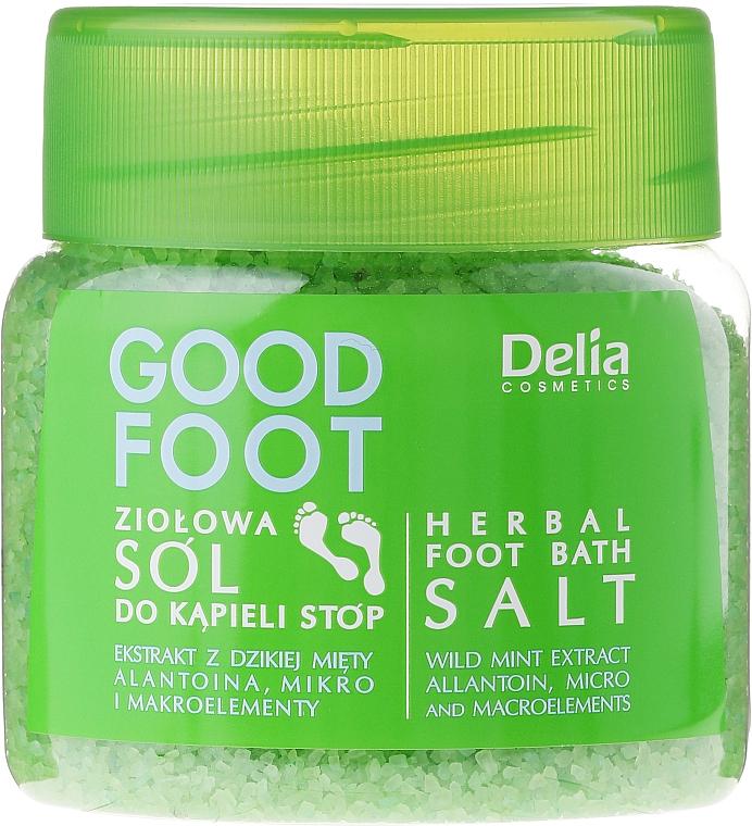 Sales de baño para pies con extracto de menta y alantoína - Delia Cosmetics Good Foot Herbal Foot Bath Salt