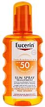 Perfumería y cosmética Spray corporal de protección solar resistente al agua, pieles sensibles - Eucerin Sun Spray Transparent SPF 50