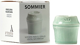Perfumería y cosmética Soporte para cepillo dental de porcelana, verde - NaturBrush Sommier Toothbrush Holder