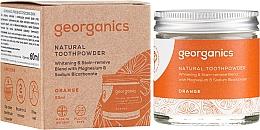 Perfumería y cosmética Polvo dental con carbón activo, magnesio y sodio bicarbonato - Georganics Red Mandarin Natural Toothpowder