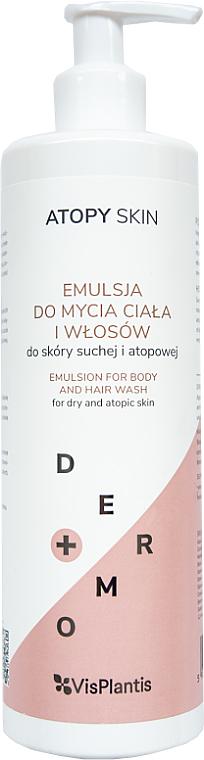Emulsión limpiadora infantil para cabello y cuerpo, pieles secas y atópicas - Vis Plantis Atopy Skin Emulsion For Body And Hair Wash