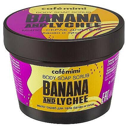 Jabón corporal exfoliante con banana y lichi - Cafe Mimi Scrub-Soap Banana And Lychee