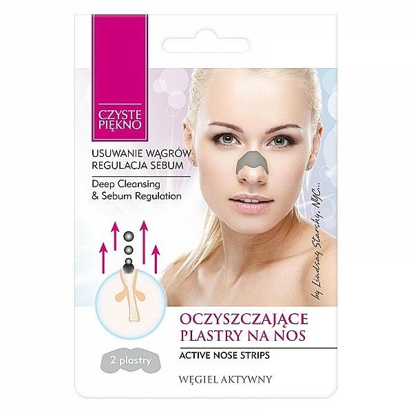 Tiras limpiadoras de poros con polvo de carbón seboreguladores - Czyste Piekno Nose Pack
