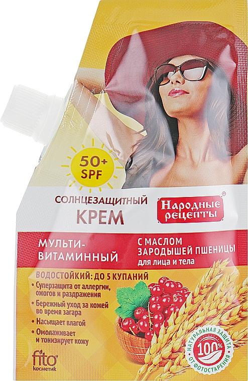 Crema protectora solar con aceite de germen de trigo SPF50 - Fito Cosmetic recetas populares