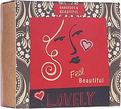 Perfumería y cosmética Set (mascarilla facial/15g + sales para pies/60ml + bálsamo labial/15g) - Bath House Barefoot & Beautiful