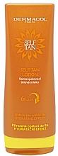 Perfumería y cosmética Loción autobronceadora con aroma a chocolate y naranja - Dermacol Sun Self Tan Lotion