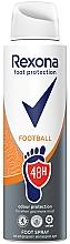 Perfumería y cosmética Spray para pies antitranspirante, 48hs protección - Rexona Football Spray