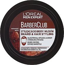 Perfumería y cosmética Crema moldeadora para cabello y barba con fijación ligera - L'Oreal Paris Men Expert Barber Club