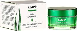 Perfumería y cosmética Mascarilla facial calmante con extracto de aloe vera - Klapp Skin Natural Aloe Vera Mousse Mask