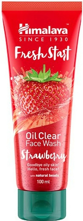 Gel limpiador facial con fresas - Himalaya Herbals Fresh Start Oil Clear Face Wash Strawberry