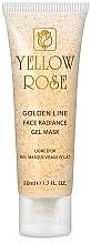 Perfumería y cosmética Mascarilla facial en gel rejuvenecedora con oro y colágeno (en tubo) - Yellow Rose Golden Line Face Radiance Gel Mask