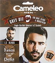 Perfumería y cosmética Tinte para bigote, barba y cabello, coloración instantánea (oxidante incluido) - Delia Cameleo Men