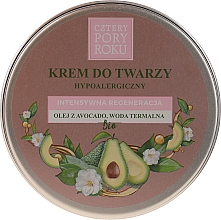 Perfumería y cosmética Crema facial restauradora intensiva con aceite de aguacate - Cztery Pory Roku Intensive Regeneration Face Cream