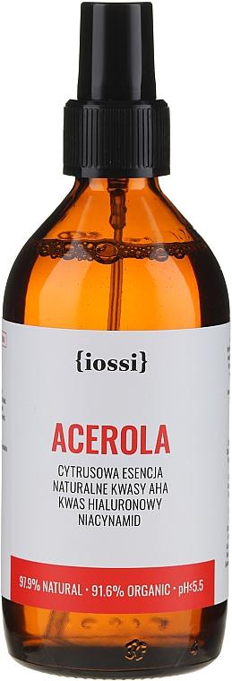 Esencia facial cítrica orgánica con ácido AHA natural, hialurónico y niacinamidas - Iossi Acerola Essence