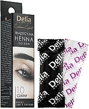 Perfumería y cosmética Tinte negro para cejas - Delia Brow Dye Henna Traditional Black