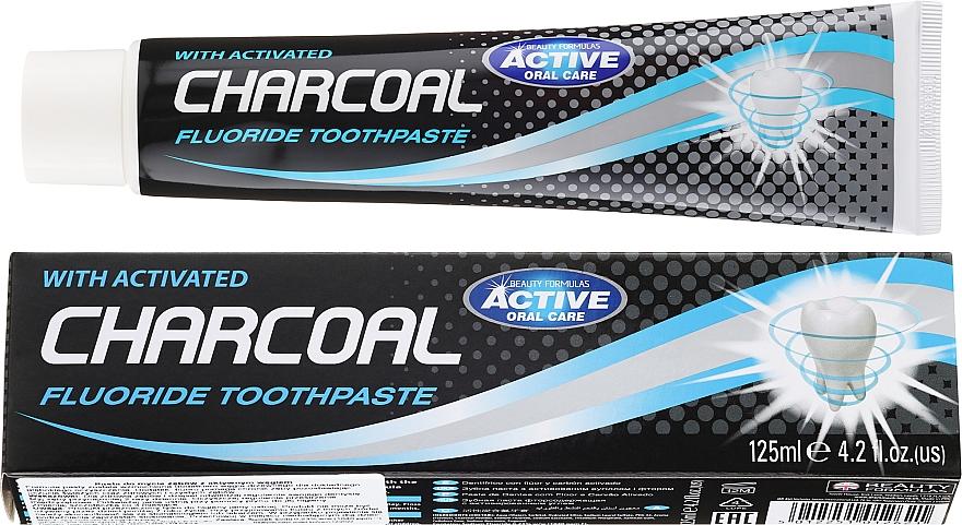 Pasta dental con flúor & carbón activado - Beauty Formulas Charcoal Activated Fluoride Toothpaste
