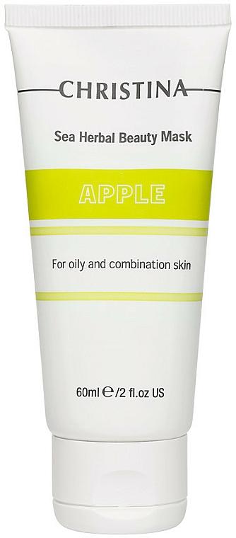 Mascarilla facial nutritiva con extracto de manzana - Christina Sea Herbal Beauty Mask Green Apple