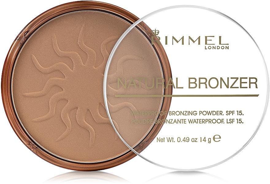 Polvo bronceador, resistente al agua - Rimmel Natural Bronzer Powder