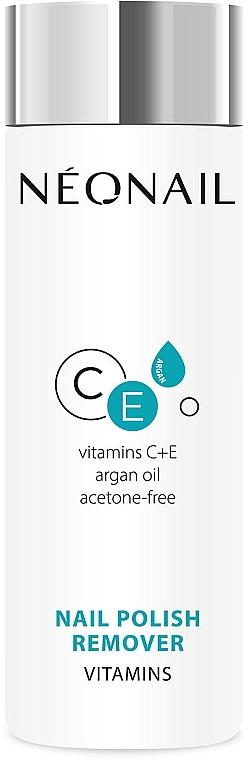 Quitaesmalte con vitaminas C, E y aceite de argán, sin acetona - NeoNail Professional Nail Polish Remover