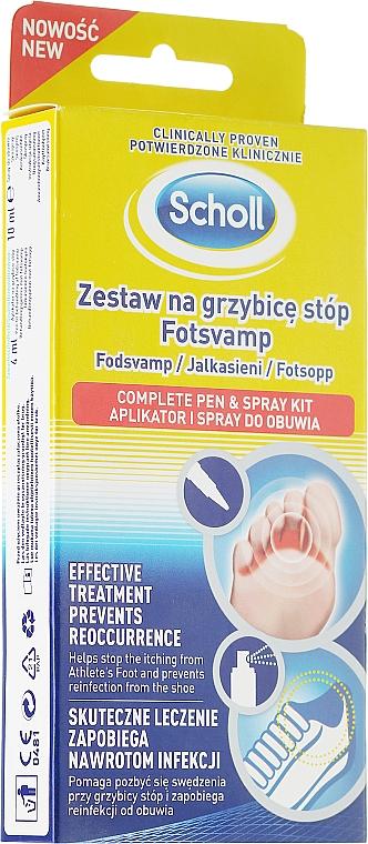 Set para el tratamiento de hongos en el pie - Scholl Fotsvamp (crema/4ml + spray/10ml)