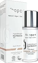Perfumería y cosmética Crema facial hidratante con extracto de manzana, vegana - Yappco Hypoallergenic Moisturizer Face Cream