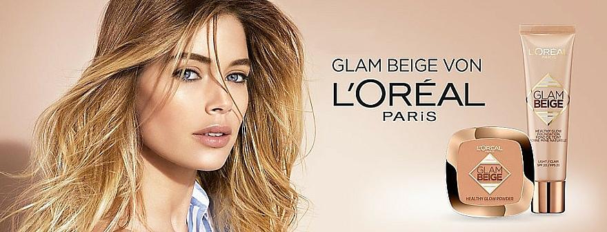Polvo facial compcto - L'Oreal Paris Glam Beige Healthy Glow Powder — imagen N3