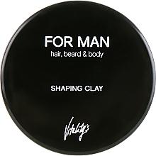 Perfumería y cosmética Arcilla moldeadora para cabello corto y mediano, fijación media a fuerte - Vitality's For Man Shaping Clay