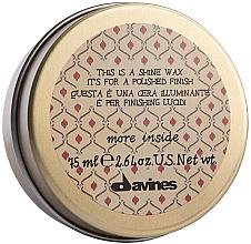 Perfumería y cosmética Cera para cabello de fijación ligera y brillo - Davines More Inside This Is A Shine Wax