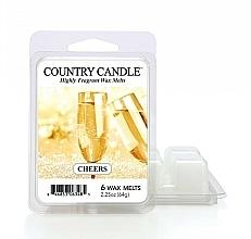 Perfumería y cosmética Cera para lámpara aromática con fragancia a champán y cítricos - Country Candle Cheers Cheesecake Wax Melts
