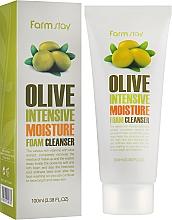 Perfumería y cosmética Espuma hidratante para limpieza facial con extracto de oliva - FarmStay Olive Intensive Moisture Foam Cleanser