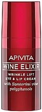 Perfumería y cosmética Crema contorno de ojos y labios reparadora con vino polifenólico Santorini - Apivita Wine Elixir Cream