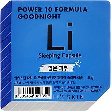 Perfumería y cosmética Mascarilla facial calmante, protectora e iluminadora con extracto de regaliz - It's Skin Power 10 Formula Goodnight Li Sleeping Capsule