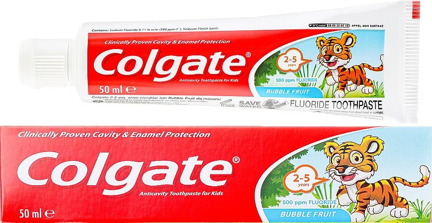 Pasta dental de 2 a 5 años, Bubble Fruit - Colgate Toddler Bubble Fruit Anticavity Toothpaste For 2-5 Years Kids